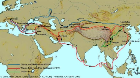 Marco Polo and the extension of the Silk Road into Europe.